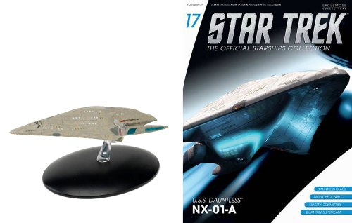#17 Star Trek USS DAUNTLESS Die-Cast Eaglemoss Metal Ship from UK w Magazine (Ship Diecast Metal)
