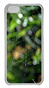 Customized iphone 5C PC Transparent Case - Wet Web Personalized Cover