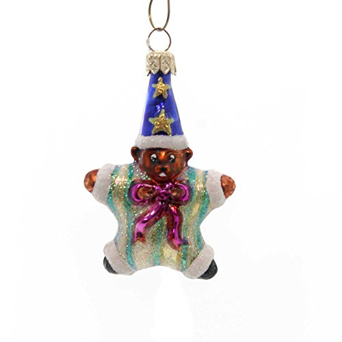 Christopher Radko STAR BEAR GEM Blown Glass Ornament Teddy Christmas