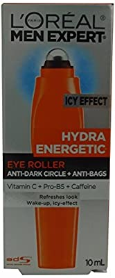 L'Oreal Paris Men's Expert Hydra-Energetic Ice Cold Eye Roller, 0.33-Fluid Ounce