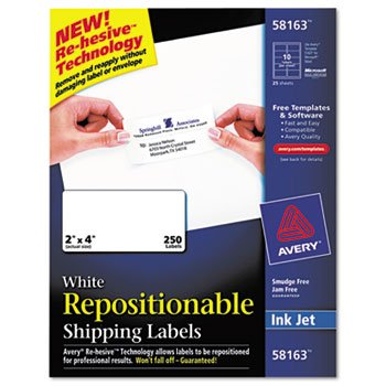 Avery Repositionable Address Label (AVE58163 - Avery Repositionable Shipping Labels for Laser Printers)