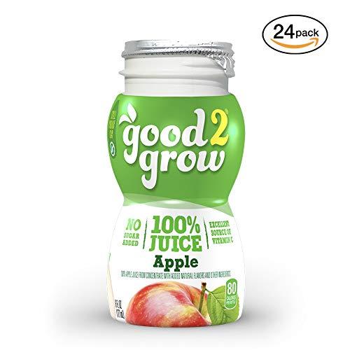 good2grow Apple Juice Bottles, 6-Ounce Good2grow Refills, 24 Pack - No Sugar...
