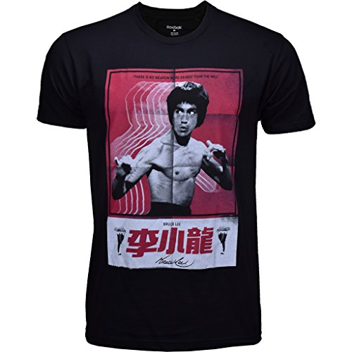 UFC Reebok Mens Black Bruce Lee Poster Tee – DiZiSports Store