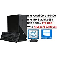 2017 Newest Flagship DELL Inspiron Desktop, Intel Quad-Core i5-7400 up to 3.50 GHz, 8GB DDR4, 1TB HDD 7200RPM, Intel HD Graphics 630, DVDRW, MaxxAudio Pro, HDMI,Bluetooth, Keyboard & Mouse, Win 10
