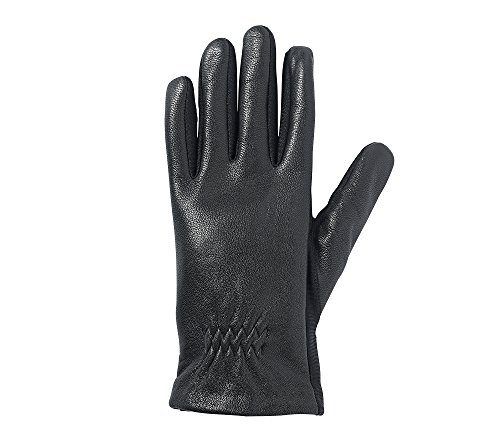 Isotoner Women's Stretch Leather smarTouch Gloves,  Black,  Large/X-Large