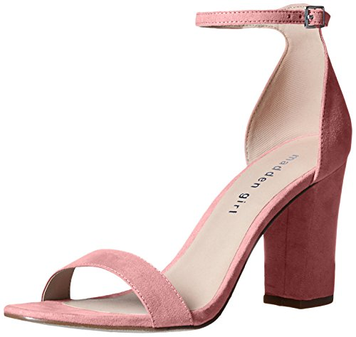 Madden Girl Women's Beella Heeled Sandal, Mauve Fabric, 9 M US