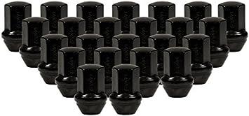 32 Nuts Thread Pitch 1.75 Long Black Duplex Bulge Cone Seat Lug Nut Installation Kit 22mm Hex 9//16 R.H