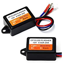 iJDMTOY (1) 3-Pin CF13/CF14 Interchangeable CF15 Electronic LED Flasher Relay For LED Related Turn Signal Bulbs Hyper Flash Fix