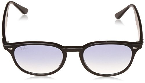 Ray-Ban Plastic Unisex Oval Sunglasses, Black, 51 mm