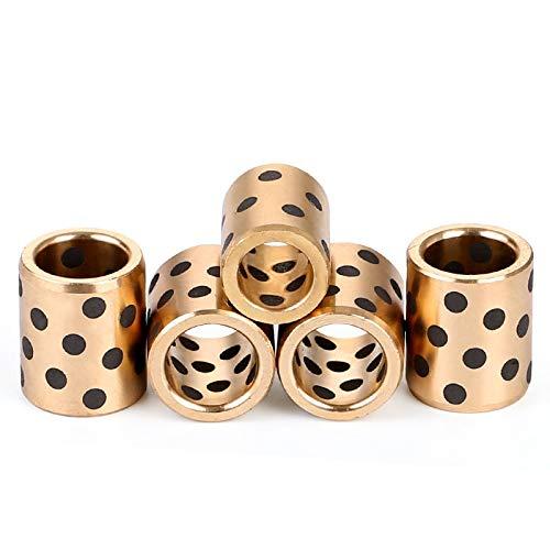 - Nuts 2pcs JDB Graphite Copper Sleeve oilless Guide bushings Inserts Bushing nut 6mm Inside Diameter 10mm Out Diameter - (Size: 6x10x8mm)
