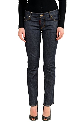 Dsquared2 Blue Straight Leg Women's Jeans US XS IT 38