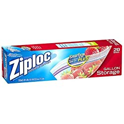 Ziploc Brand Storage Bags With Smart Zip, Gallon 20 Ct (2 Pk)