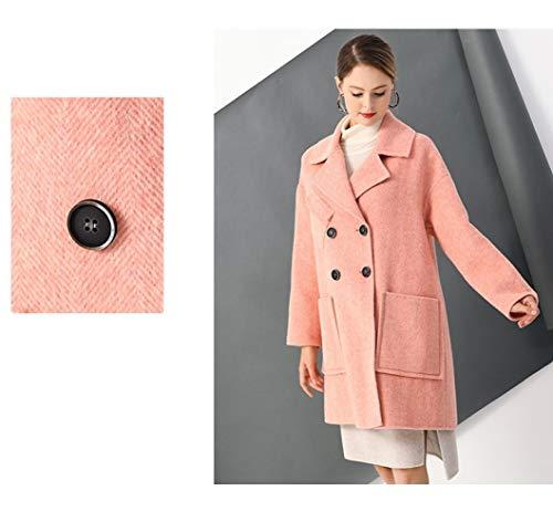 Coat Inverno Lana Jjzhy In Vento Autunno Da A Donna Rosa Ricamo Caldo Vintage Giacca Maniche Boucle Lunghe E OOYEqwB
