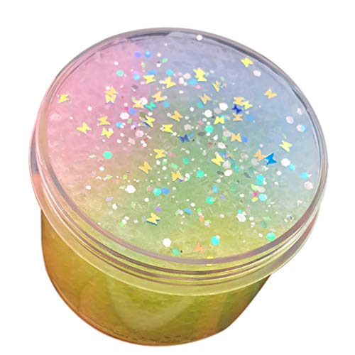 DDLmax Rainbow Gradient Ice Cloud Puff Slime Scented Stress Kids Clay Crystal Mud -