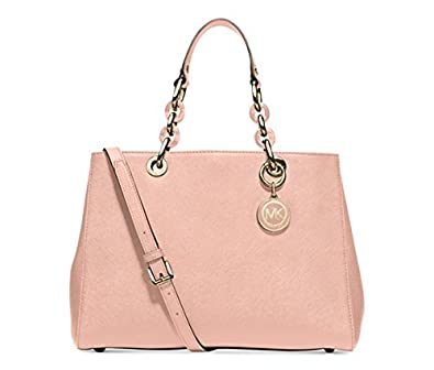cc5f93fa36775 Amazon.com  MICHAEL Michael Kors Cynthia Medium Satchel (Pastel Pink ...