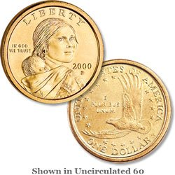 2000-P Sacagawea Dollar -- Uncirculated! for sale  Delivered anywhere in USA