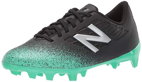 - New Balance Boys' Furon V5 Soccer Shoe neon Emerald/Black/Silver 10.5 W US Little Kid