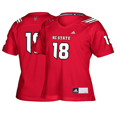 adidas NC State Wolfpack #18 NCAA Women's Red Official Football Replica Jersey (S) (Wolfpack Red Adidas Replica Football)