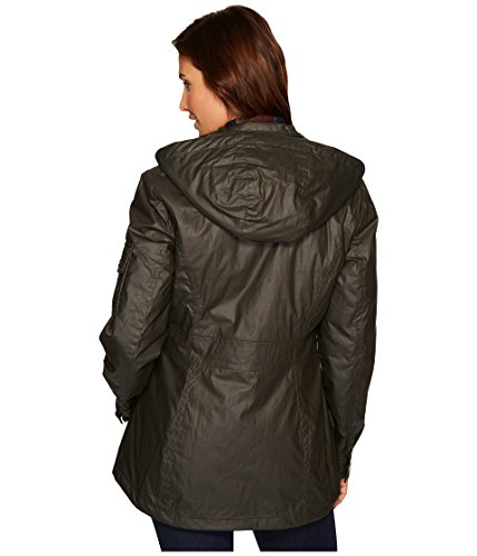 Pendleton Women's Waxed Cotton Hooded Zip Front Jacket, Olive, M by Pendleton (Image #3)