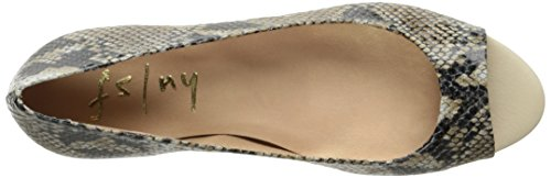 French Women's Natural Snake FS Sole Wedge Welcome Pump NY 1q1r7