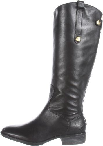 Sam Edelman Women's Penny Riding Boot, Black Leather, 11 M US