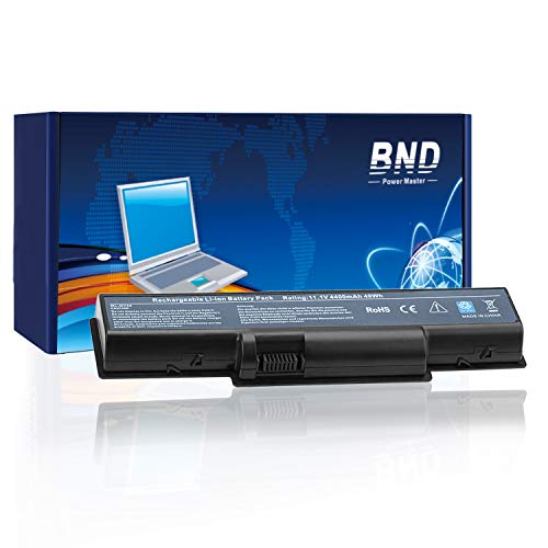 BND Laptop Battery for Acer Aspire 5517 5532 5732Z 5734Z, eMachines E627 E725 E525, Gateway V54 NV52 NV53, fits P/N MS2285 MS2274 MS2273 AS09A31 MS2274 AS09A61 AS09A41 AS09A71-12 Months Warranty Compatible Emachines Replacement Laptop