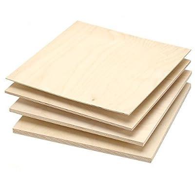 Single Piece of Baltic Birch Plywood, 9mm - 3/8 x 12 x 12 by Woodcraft Woodshop