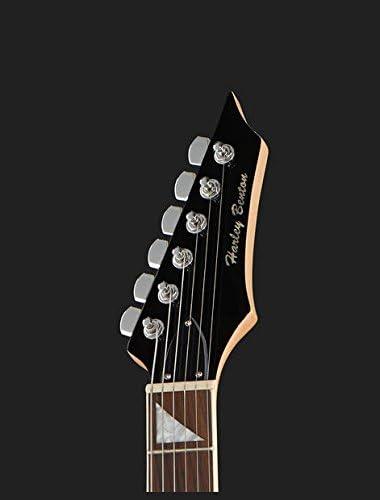 Guitarra eléctrica Harley Benton RX-10 BK Rock Series + púas y ...