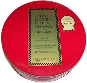 Aunt Lizzie's Cheese Straws - 20 oz Tin -