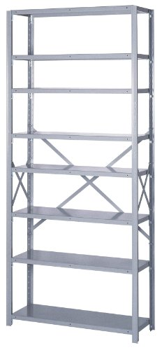 Lyon DD8020SX 8000 Series Open Shelving Starter with 8 Extra Heavy Duty Shelves, 36