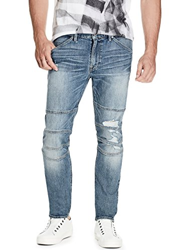 GUESS Men's Slim Tapered Moto Jeans (Guess Men Jeans)