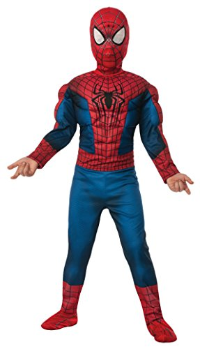 [Boys Spiderman 2 Kids Child Fancy Dress Party Halloween Costume, L (12-14)] (Spiderman Costumes Ideas)