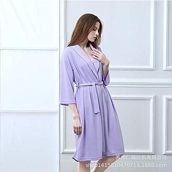 c3daa9c79fa4 Cute Pajamas Pajamas Fashion Jacquard Lingge Soft Moisture Perspiration  Anti-Wrinkle Nightgown (Color