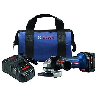Bosch GWS18V-45B14 18V 4-1/2 Angle Grinder Kit with CORE18V Battery, Blue
