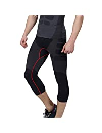 Men's Cool Running Fitness Compression 3/4 Leggings Base Layer Tights