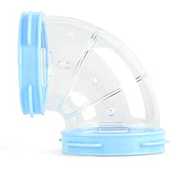 Wildgirl Hamster Cage Expansion Tunnel DIY Tube Multiple External Accessories (Blue, Curve Tube)