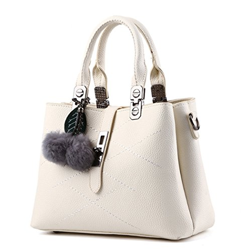 Hobo à sac Lady Messenger Satchel sac à beauté main à bandoulière Crossbody cuir Sac blanc en main SxnRC8q