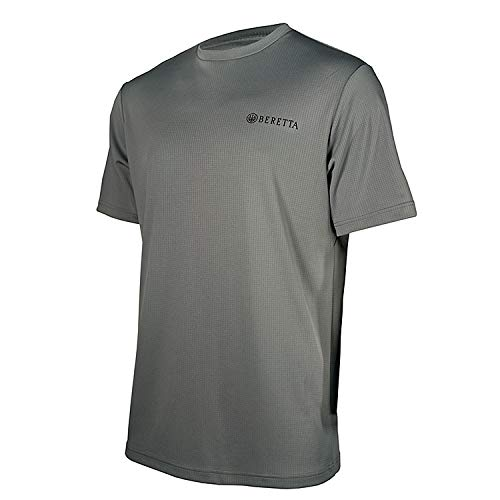 Beretta Mens US TECH T Shirt; Grey Castlerock; XX-Large ()