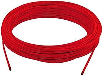 Funda para cable de freno de bicicleta (1 m, color rojo) para ...