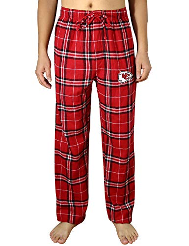 KC CHIEFS Mens Plaid Pajama Pants With Two Hand Pockets Multicolour Size - City Kansas Chiefs Pajamas