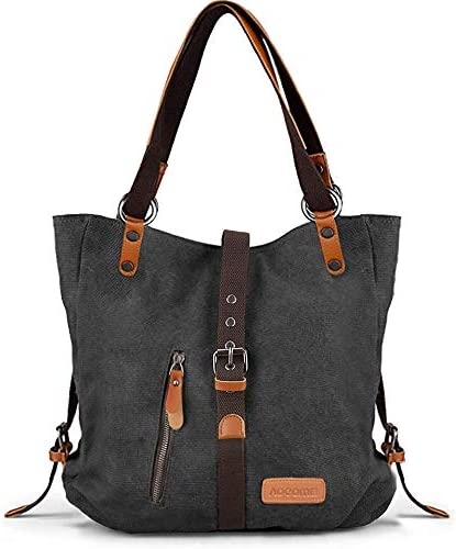 [Upgrade]Shoulder Bags for Women, Purses Handbags Canvas Tote Bag, Fashion Backpack convertible Purses 2 in 1 for Womens Ladies, by AOCOME