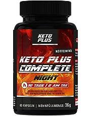 Keto Burn Plus NIGHT, zonder cafeïne, complete capsules voor vetstofwisseling, 60 capsules, speciale prijs