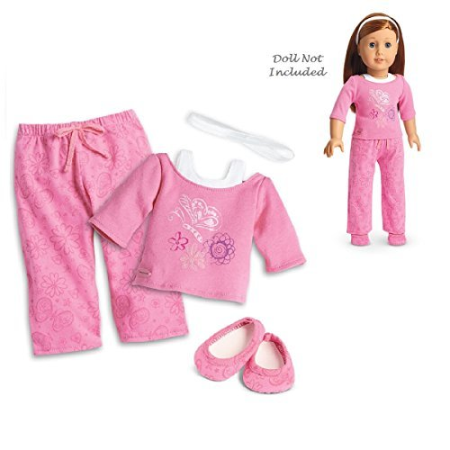 """American Girl Truly Me Pink Pajamas in Bag for 18"""" Dolls (Doll Not Included)"""