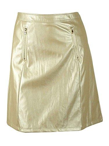 UPC 793619142444, Modamix Women's Faux Leather Metallic A-Line Skirt (18W, Rose Gold)