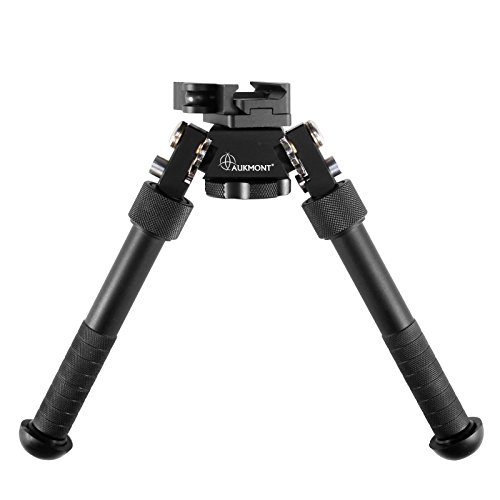 Cheap AUKMONT Tactical Quick QD CNC 6.5-9.5 Inch Bipod Flat Adjustable Two Screw Standard Hunting Airsoft