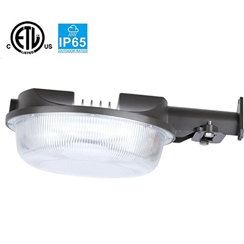 JMKMGL LED Barn Light (Photocell Included), 42W(300W Equiv.)5000K 4600lm Flood lighting,110-277VAC,Dusk to Dawn Yard Lights for Outdoor Security,IP65 Rated,5-year Warranty(42W)