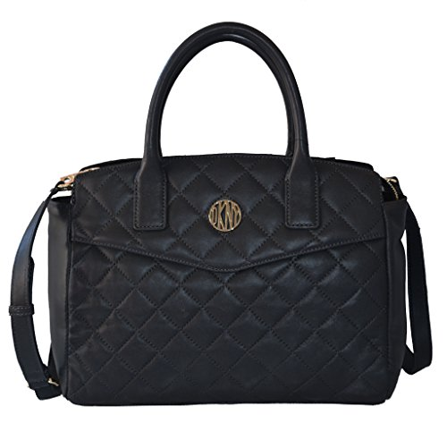 DKNY Women's Gansevoort Bag Quilted Satchel Tote Handbag Purse Black