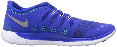 Nike  Free 5.0 (Gs) - Zapatillas para niños Lyon Blue/Metallic/Blue Legion/Black