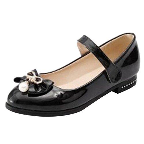 COOLCEPT Damen Mode Flach Pumps Klettverschluss Black