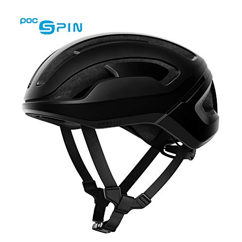 POC - Omne Air Spin Bike Helmet for Commuters and Road Cycling, Lightweight, Breathable and Adjustable, Uranium Black Matt, - Black Performance Street Helmet